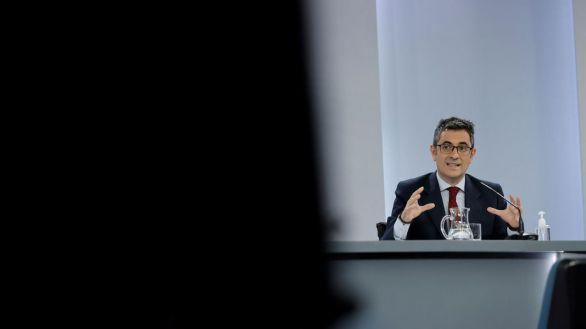El ministro de Presidencia, Félix Bolaños, este martes.