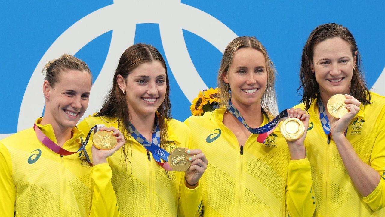 Australia arrasa en el relevo 4x100: récord y tercer oro consecutivo