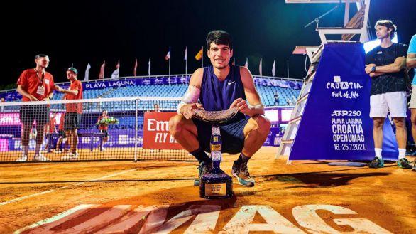 ATP. El juvenil Carlos Alcaraz, como Rafa Nadal: campeón con 18 años
