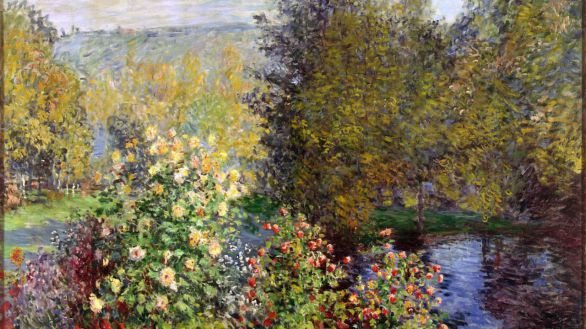 Fragmento de 'Corner of the Garden at Montgeron', de Claude Monet.