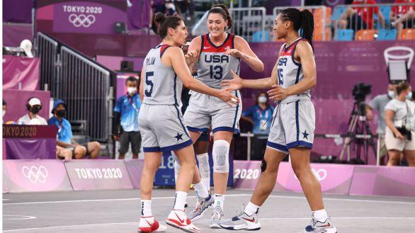 Letonia y EEUU estrenan los oros en el baloncesto 3x3