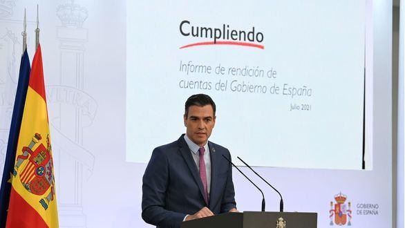 Sánchez dedica su balance a alardear de su gestión y a identificar al PP con el
