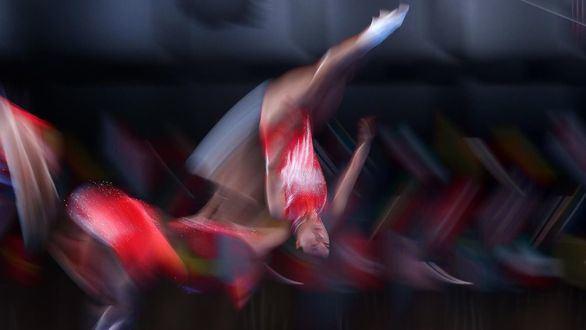China se reparte oro y plata en trampolín de gimnasia