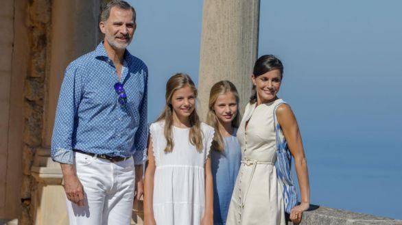 La familia real durante su última visita a Palma de Mallorca en 2020.