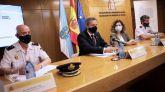 El delegado del Gobierno en Galicia, José Miñones, la subdelegada, María Rivas (2d), el jefe superior de Policía de Galicia, José Luis Balseiro y el jefe de brigada provincial de la policía judicial de la Jefatura Superior de Galicia, Pedro Agudo.