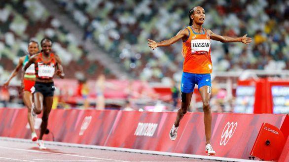 Sifan Hassan logra en el 5.000 el primer oro de los tres que persigue
