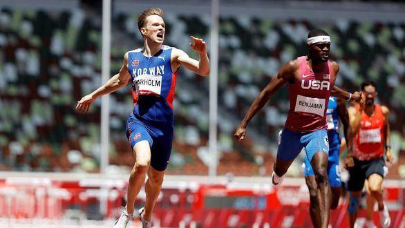 Warholm, oro y récord mundial en una final histórica de los 400 metros vallas