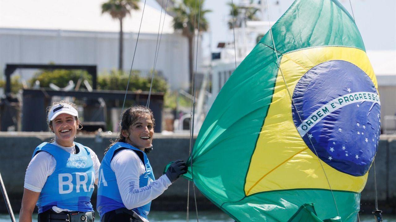Las brasileñas Grael y Kunze, pareja de oro en el 49er. FX