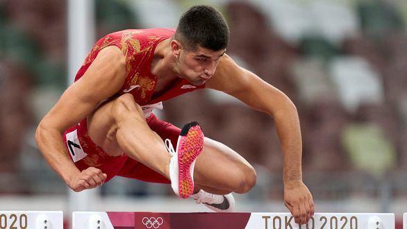 Asier Martínez, a la final de 110 m vallas en su debut