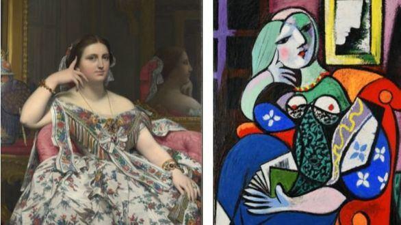 La obra Mujer con un libro de Picasso se reencuentra con el retrato de Ingres que la inspiró