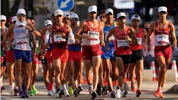 Álvaro Martín, a las puertas de la medalla con un cuarto en marcha