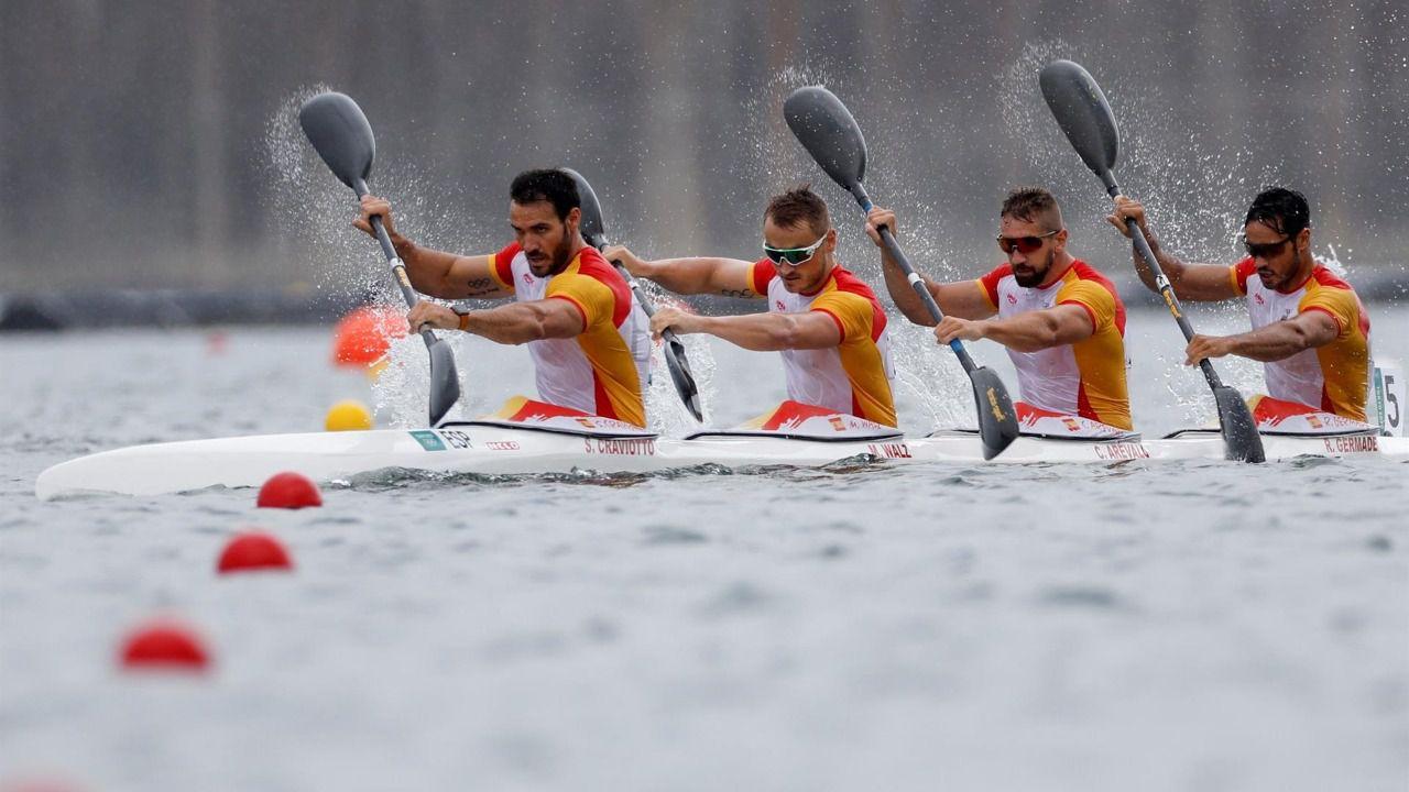 Saúl Craviotto y el K4 500, decimosexta medalla para España