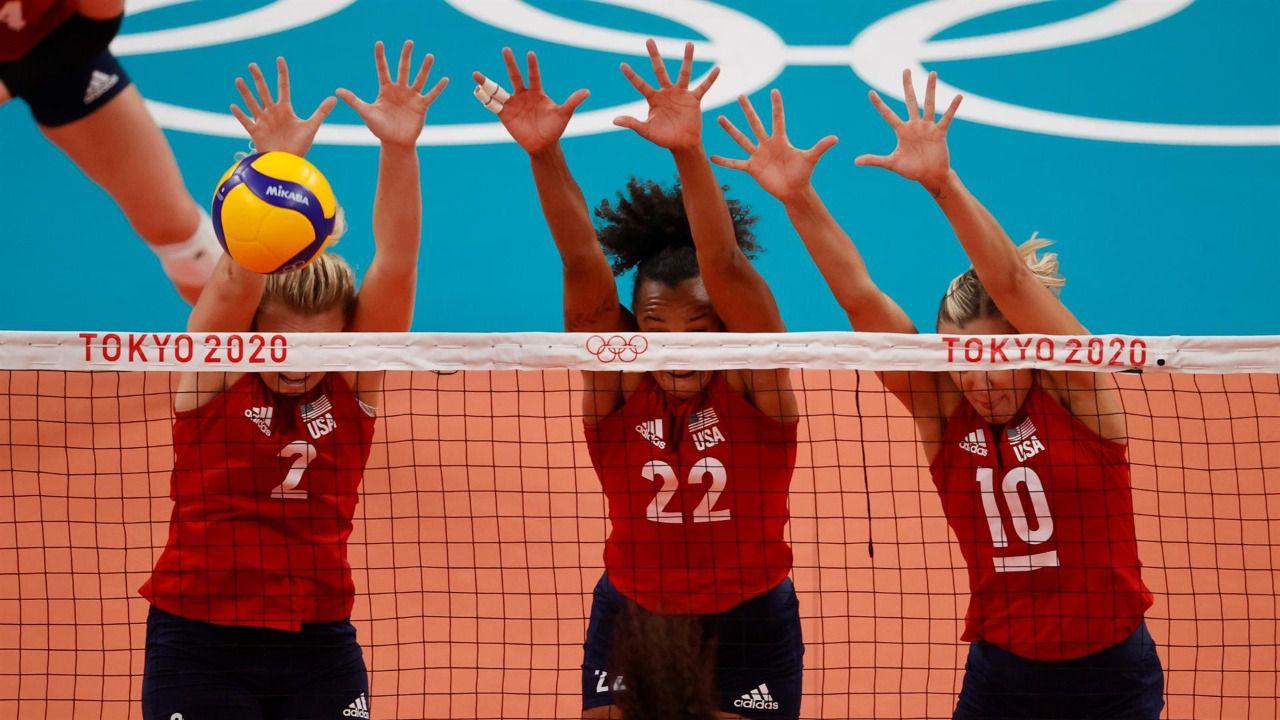 Estados Unidos, Brasil y Serbia, podio final del voley