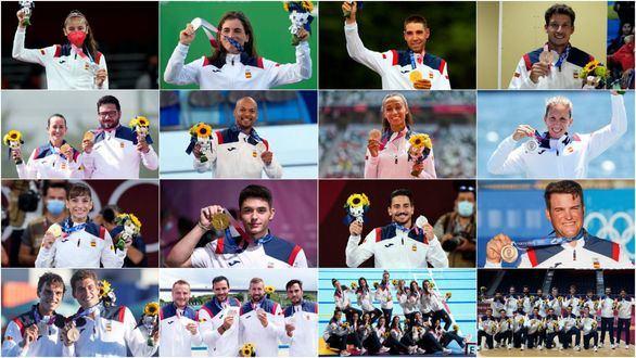 España cierra los Juegos de Tokio con 17 medallas y en el puesto 22 del medallero