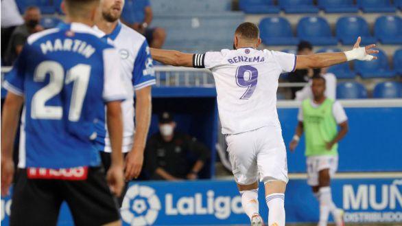 La conexión Hazard-Benzema da sus primeros frutos del año al Real Madrid  1-4
