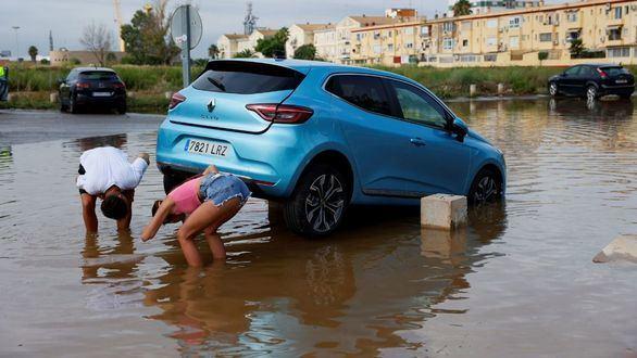 Lluvias torrenciales en Canet y Sagunto dejan más de 200 litros/m2 en pocas horas