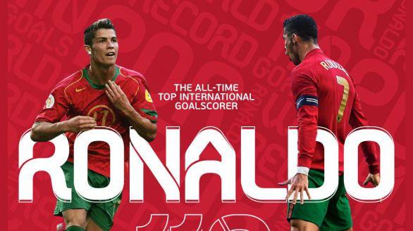 Cristiano Ronaldo, récord y máximo goleador de selecciones de la historia