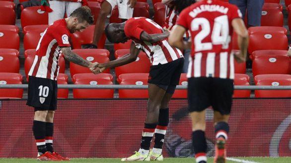 El Athletic duerme líder tras superar al Mallorca  2-0