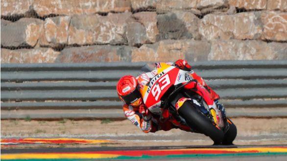 Moto GP. El mejor Márquez en tiempo se topa con Bagnaia
