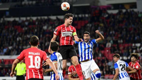 Europa League. La Real Sociedad saca un buen empate en casa del PSV | 2-2