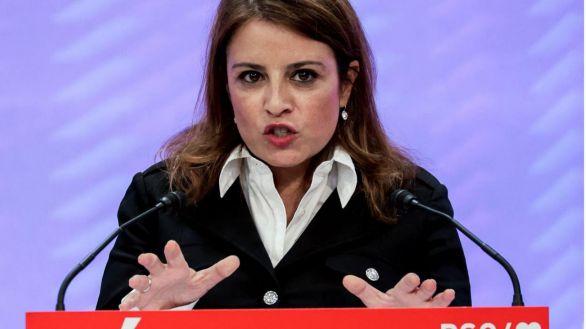 """La vicesecretaria general del PSOE, Adriana Lastra, en la clausura de la Escuela Feminista del PSC """"Dolors Renau"""" 2021."""