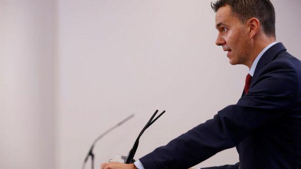 El portavoz del PSOE Héctor Gómez, este jueves.