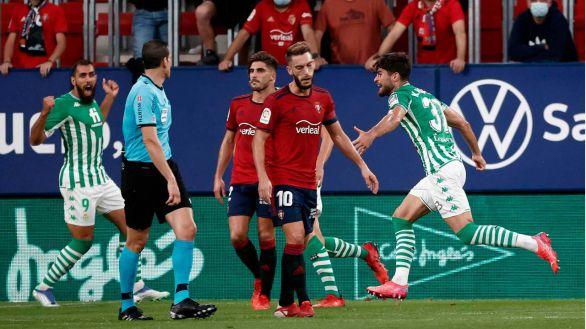 Un solvente Betis vence a un Osasuna sin fuelle |1-3