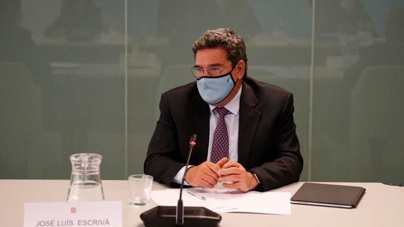 El ministro de Seguridad Social, José Luis Escrivá, este viernes.