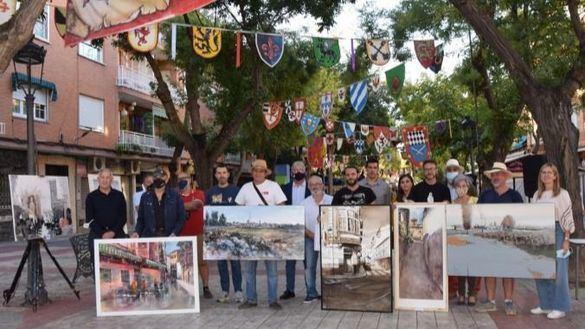 El arte sale a la calle en el IV Certamen de pintura rápida de Quintanar de la Orden