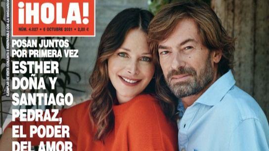 Esther Doña y el juez Santiago Pedraz, dos enamorados en la portada de ¡Hola!