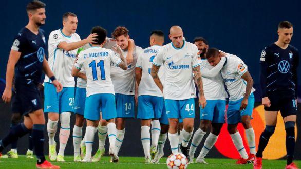 El Zenit se da un respiro contra el frágil Malmö   4-0