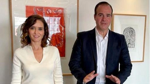 Ayuso estudia con el Banco Interamericano un intercambio empresarial entre Montevideo, Miami y Madrid