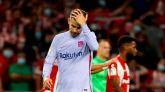 Gerard Piqué se muestra hundido y Ronald Koeman señala a un canterano del Barcelona