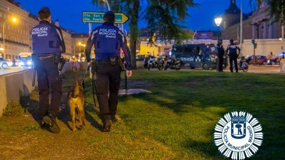 Disturbios en Madrid tras la intervención de la Policía en un botellón multitudinario