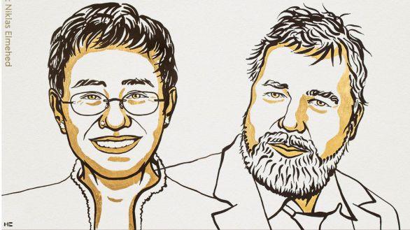 Los periodistas Maria Ressa y Dmitry Muratov, Premio Nobel de la Paz