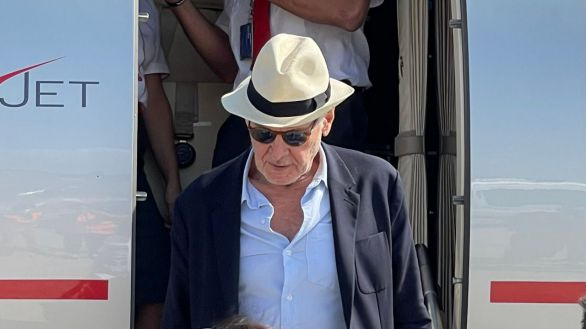 Harrison Ford llega a Sicilia para el rodaje de la quinta entrega de Indiana Jones