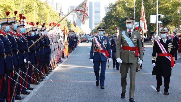 Sonoros abucheos y gritos de dimisión a Sánchez en la Fiesta Nacional