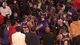 NBA. Una pelea entre compañeros ensombrece la segunda derrota de los Lakers