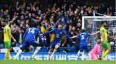 El líder Chelsea destroza al colista Norwich  7-0