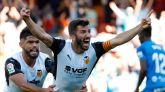 El Valencia logra un empate in extremis ante un Mallorca con diez  2-2