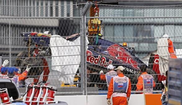 Carlos Sainz está 'perfectamente' tras su aparatoso accidente en Sochi