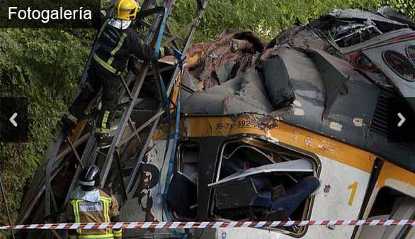 La imágenes que deja el accidente ferroviario de O Porriño