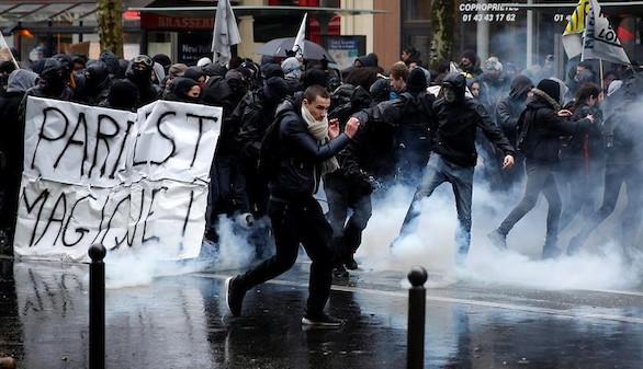 Nueva jornada de protestas y altercados en Francia