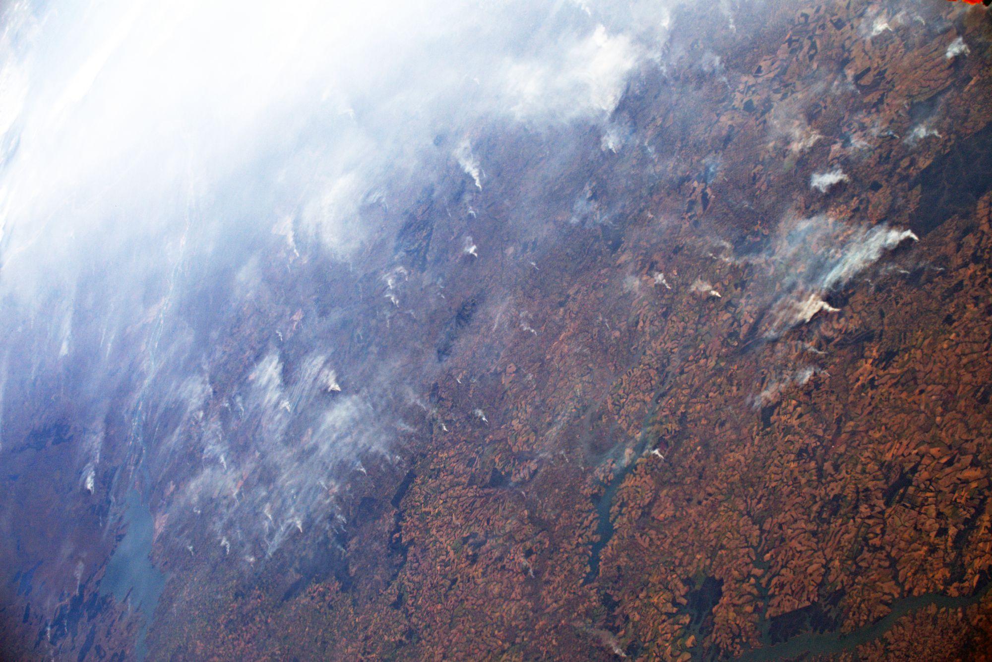 Los incendios en la Amazonía desde la Estación Espacial Internacional
