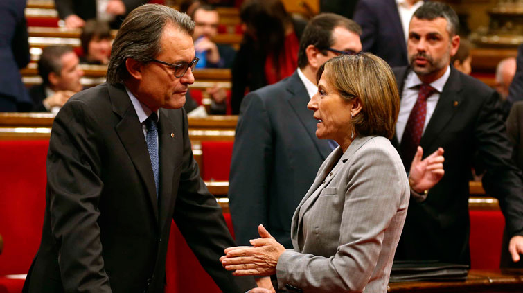 El proceso de investidura, con Artur Mas en la cuerda floja