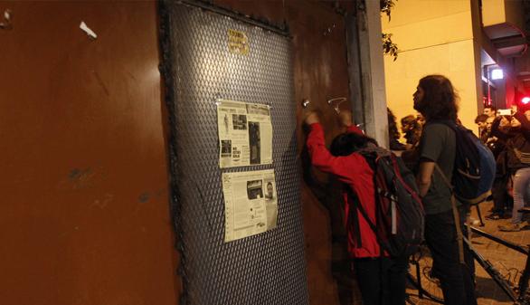 El colectivo okupa vuelve a entrar en el 'Banco Expropiado'