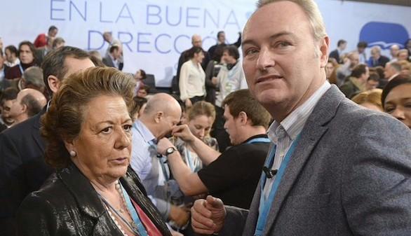 Alberto Fabra y Rita Barberá, senadores del PP valenciano