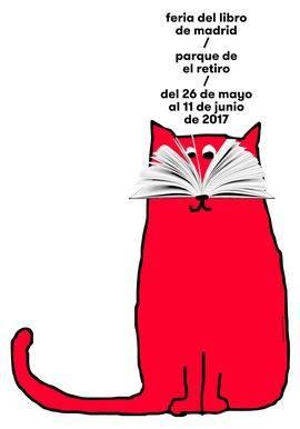 Cartel de Ena Cardenal de la Nuez para la Feria del Libro de Madrid