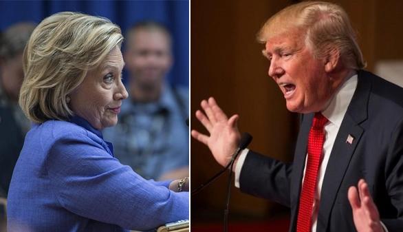 Clinton y Trump parten como favoritos este lunes en Iowa