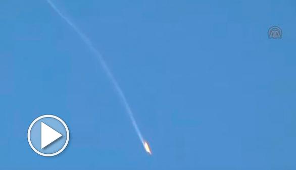 Turquía derriba un cazabombardero ruso que habría violado su espacio aéreo